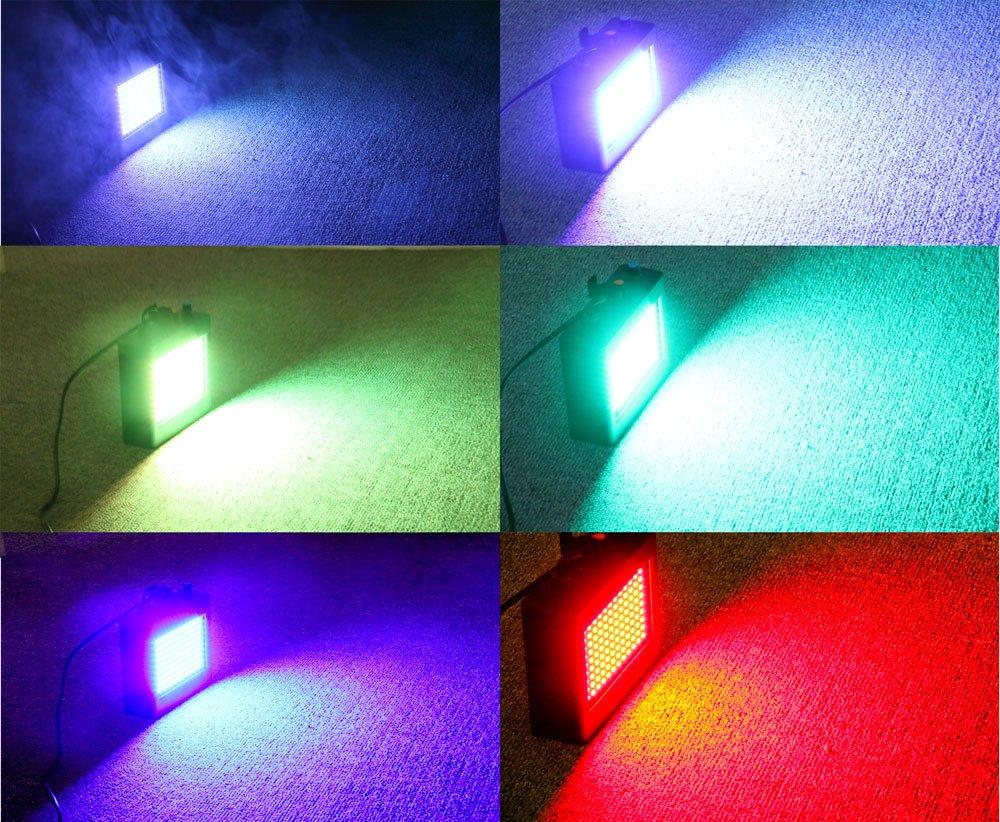 SOLMORE Strobe Light 108 LEDs Estroboscopio para Discoteca Etapa Strobe l/ámpara con RGB Flash con Control Remoto para Fiesta Discoteca Boda Halloween Navidad Luce da Palco