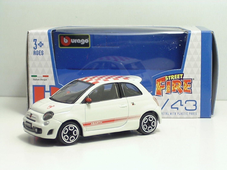 Burago modellino AUTO FIAT 500 STREET FIRE in scala 1:43 modelli assortiti