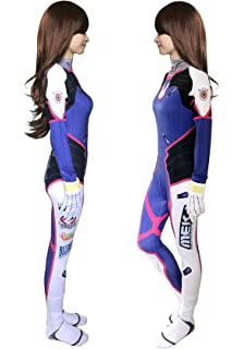 Another Me Womens Bodysuit D.Va Hana Song/Tracer Lena Oxton Costume Cosplay