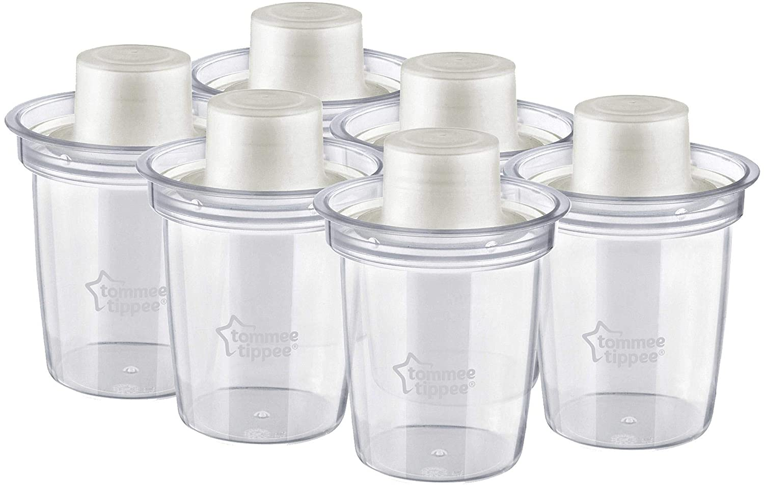 Tommee Tippee Closer to Nature Milk Powder Dispensers by Tommee Tippee 6-Pack