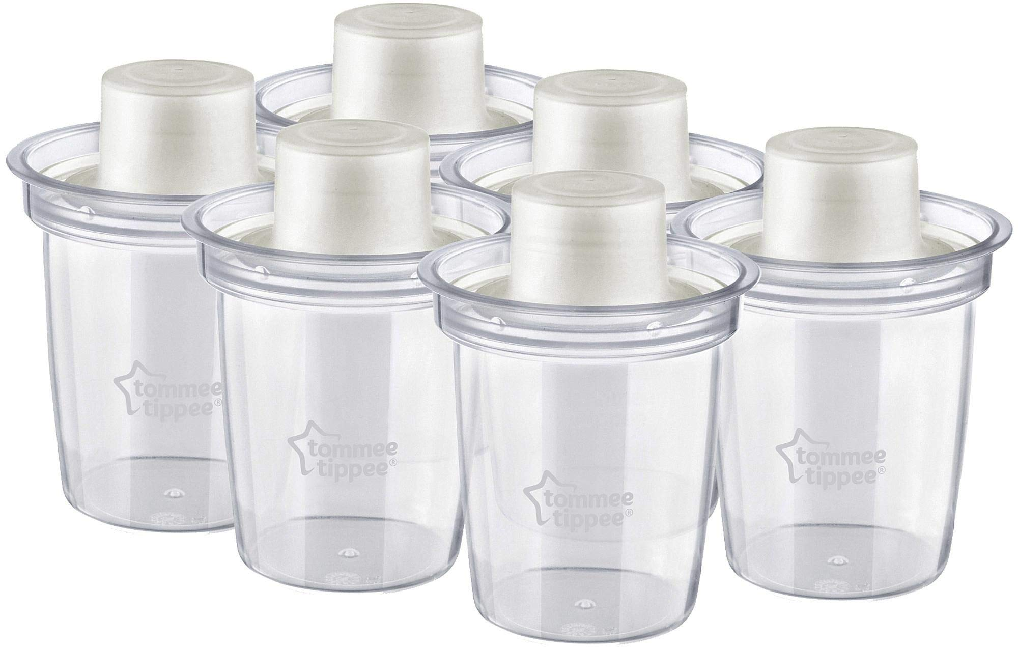Tommee Tippee Closer to Nature Milk Powder Dispensers (6-Pack) by Tommee Tippee by Tommee Tippee