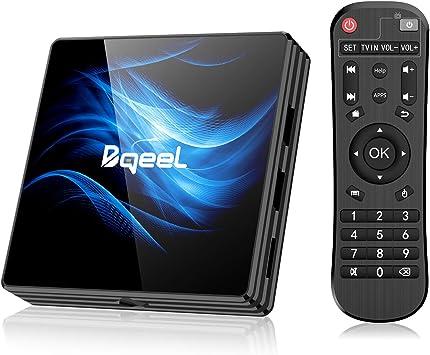 Android TV Box Android Box TV 4K, USB 3.0, BT 4.1, UHD H.265, HDMI, Smart TV Box Quad Core WiFi Media Player, Box TV Android Streaming Media Player: Amazon.es: Electrónica