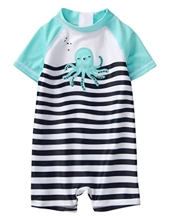 81a768c6387 Amazon.com  Gymboree Boys 1-Piece Octopus Swimsuit  Clothing
