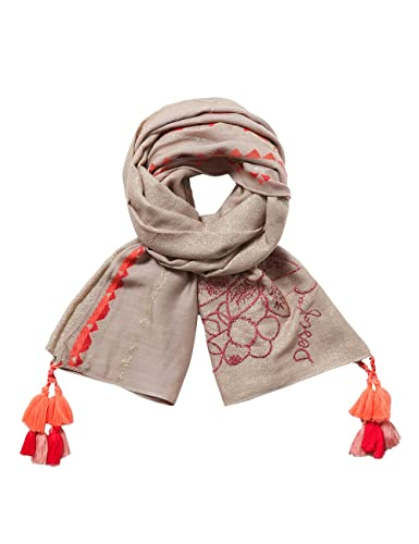 Desigual Foulard_slim Rectangle Pixie, Bufanda para Mujer