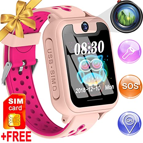 Amazon.com: Kids Smart Watch Phone GPS Tracker for 3-12 Year ...