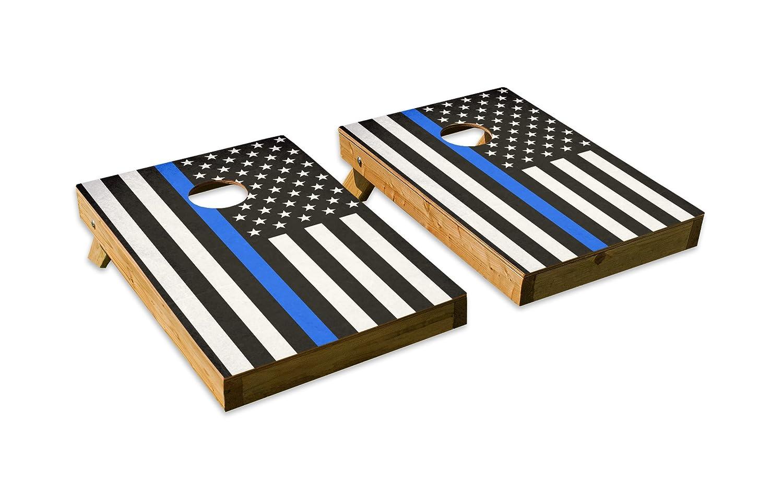 警察ブルーストライプデザインCornhole USA/Bean Tailgate Bag Tossボードセット – Made in Beanバッグ USA with品質木製 – 2 ' x3 'テールゲートサイズ – Includes 8 corn-filled Beanバッグ B07DZWVFTN Parent Tailgate, cocoLingerie:d60cc06b --- sodern.se