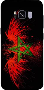 ColorKing Football Morocco 03 Black shell case cover for Samsung S8