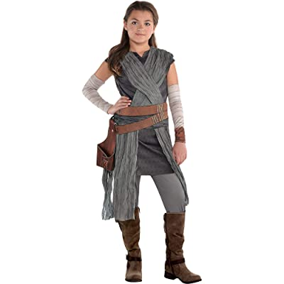 Costumes USA Star Wars 8: The Last Jedi Rey Costume for Girls, Includes Jumpsuit with Wraps and Arm Warmers: Clothing