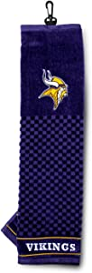 Team Golf NFL Minnesota Vikings Embroidered Golf Towel, Checkered Scrubber Design, Embroidered Logo (31610)
