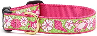 product image for Up Country Pink Sealife Premium Ribbon Dog Collar Sizes S - L with Turtle, Nautilus, Sand Dollar and Crab