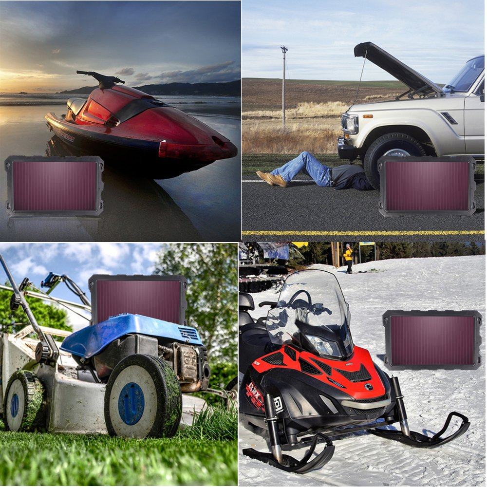 Motorcycle Waterproof Portable Amorphous Solar Panel For Automotive RV etc Trailer Boat 12V 3.3W Solar Battery Charger Car Solar Car Battery Trickle Charger Powersports Atv,Marine Snowmobile
