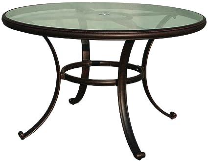 Pleasing Amazon Com Darlee Cast Aluminum Glass Top Round Dining Beutiful Home Inspiration Xortanetmahrainfo