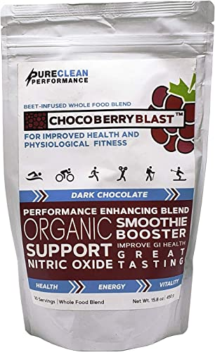 Chocolate Beet-Enhanced Super Food Blend-CHOCOBERRY Blast- Delicious, Supports Nitric Oxide, Athlete-Endorsed, Physician-Formulated for Peak Strength and Faster Recovery 30 Servings