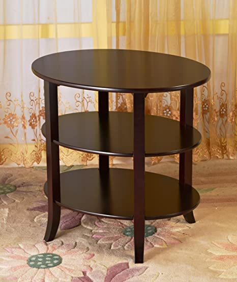 Frenchi Home Furnishing 3-Tier Oval End Table