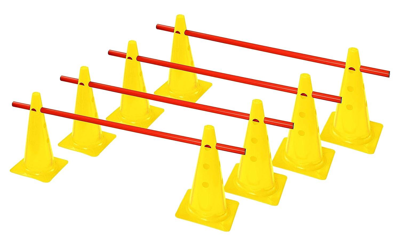 Steckhürden-Set für Koordinations Training Koordination Hürden gelb