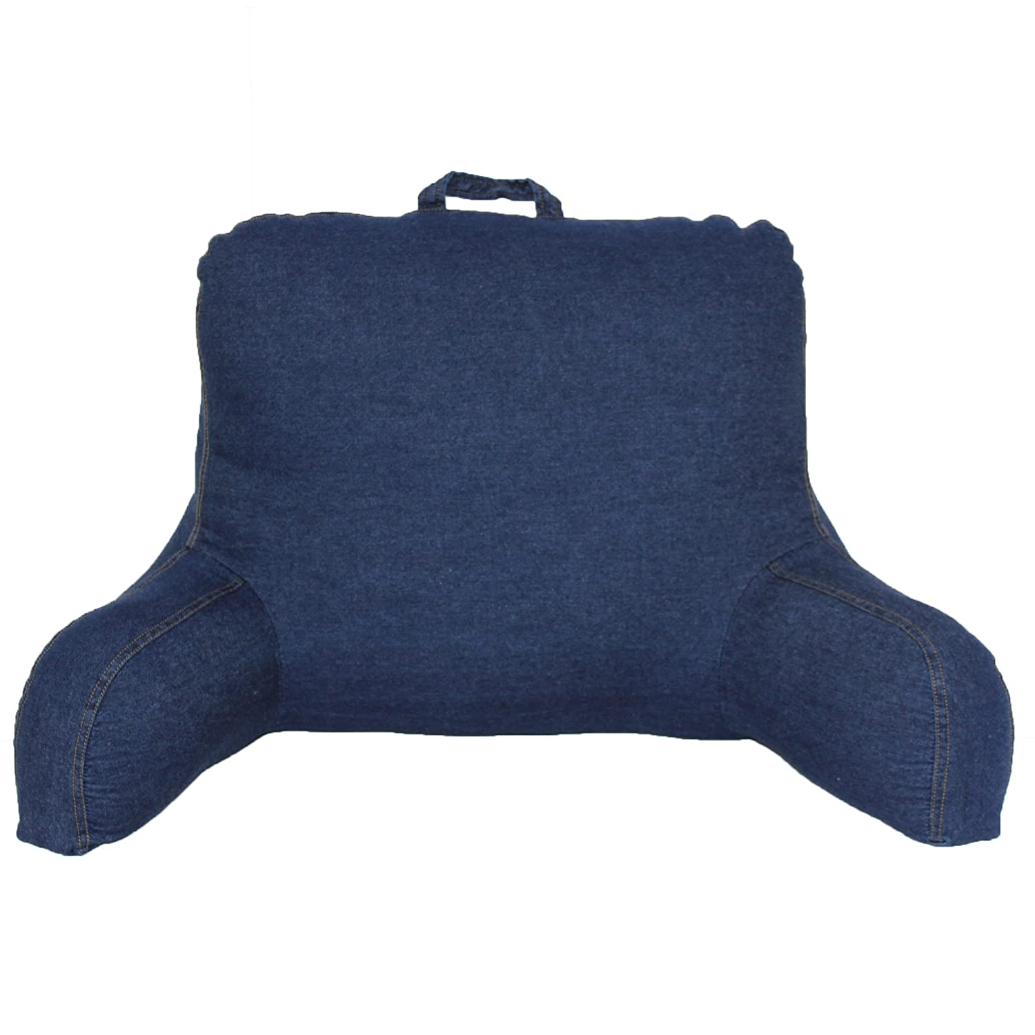 Bed chair pillow walmart - Brentwood 666 Washed Denim Backrest Pillow Blue