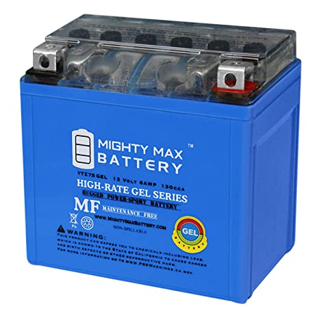 amazon com: mighty max battery 12v 6ah gel battery for honda 450 trx450er,  trx450r 2006-2012 brand product: automotive