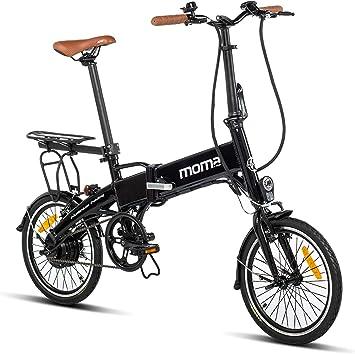Moma Bikes E16teen + portabultos Bicicleta Electrica, Plegable ...