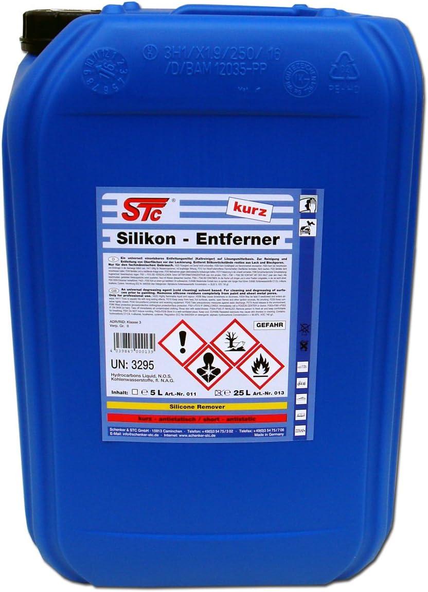 Stc Silikonentferner Kurz 25 L Entfetter Reiniger Für Autolack Zur Oberflächenreinigung Vor Dem Lackieren 25 L Auto