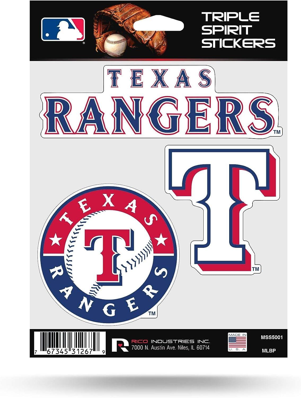 Rico MLB Rangers - Tx Triple Spirit Stickers