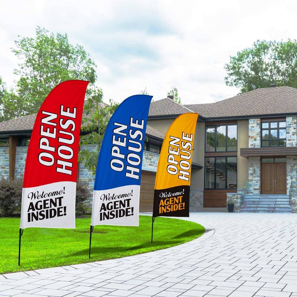 Open House Home Red White Blue Twin Pack Replacement Full Sleeve Swooper Banner Flags