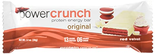 Power Crunch Protein Energy Bar, Red Velvet, 12 Count