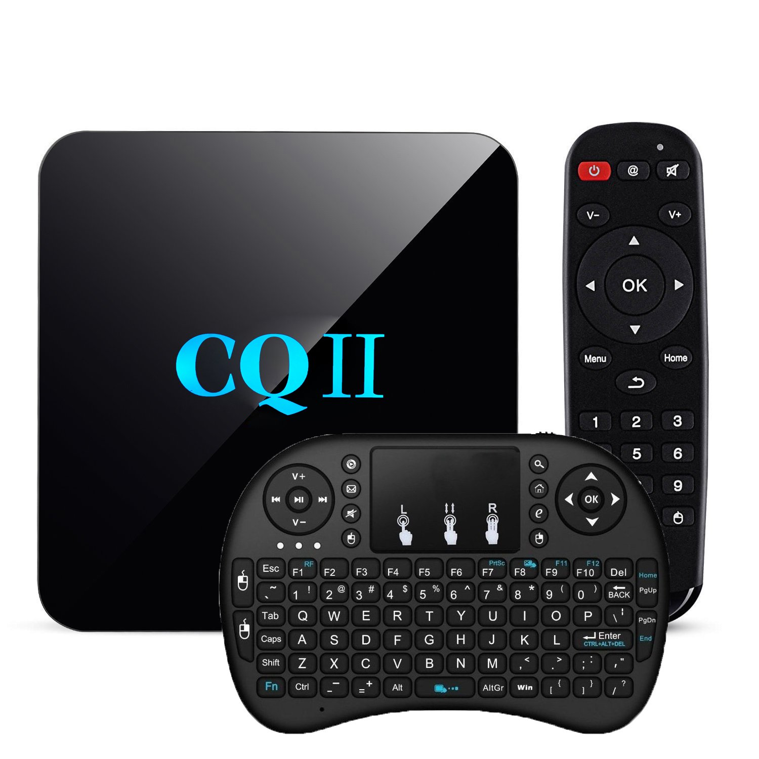[Free Wireless Keyboard] TopYart Newset CQII Android 6.0 Amlogic S905X Quad Core 4K Ultra HD 1G RAM 8G ROM flash Smart TV Box + Wireless Keyboard by TopYart
