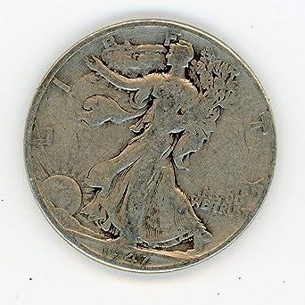 1947-D 50c Liberty Walking Silver Half Dollar F Fine
