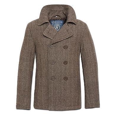 Brandit Jacke PEA Coat Herringbone braun Größe 5XL: Amazon