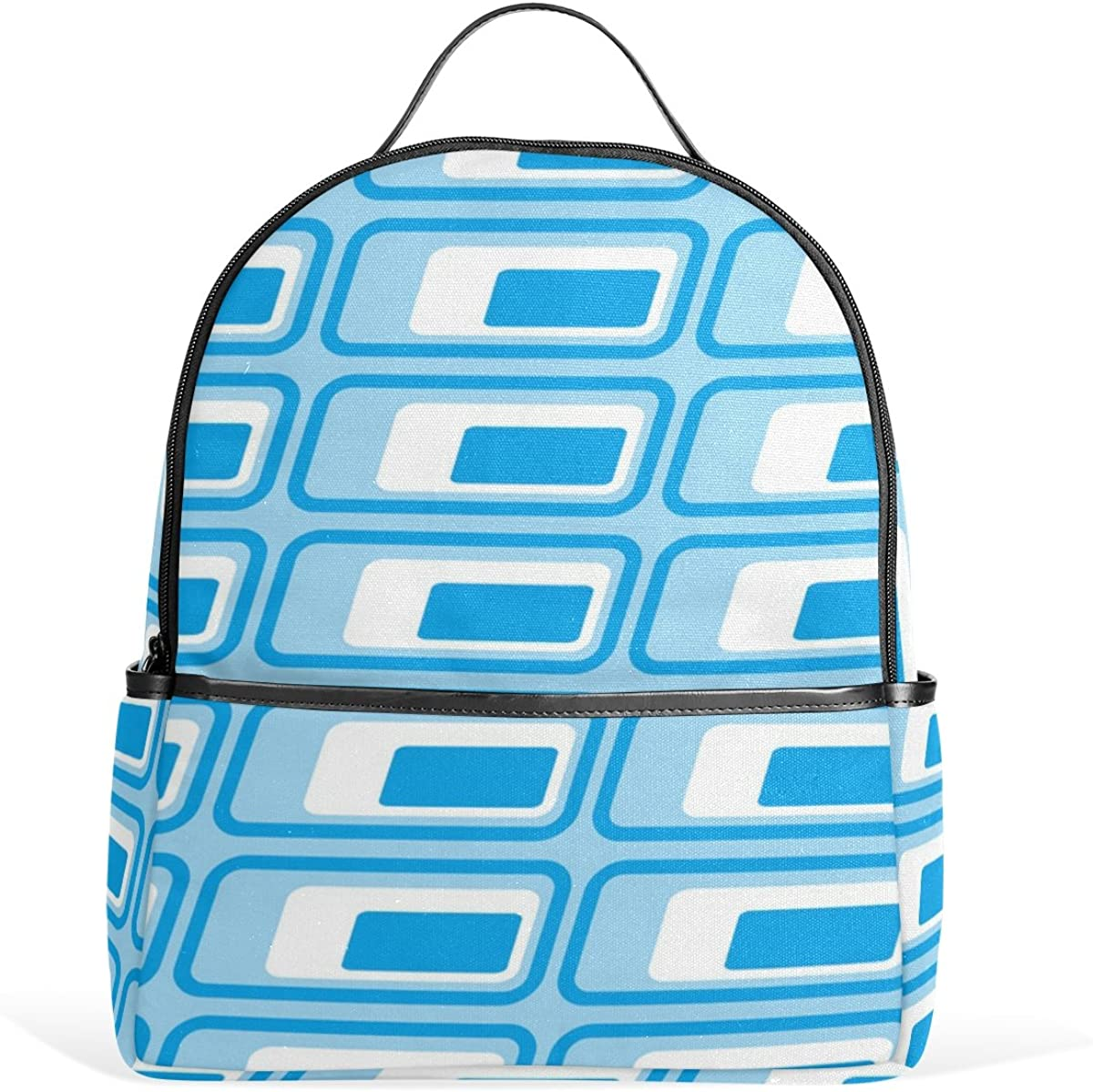 Mr.Weng Square Texture Printed Canvas Backpack For Girl and Children