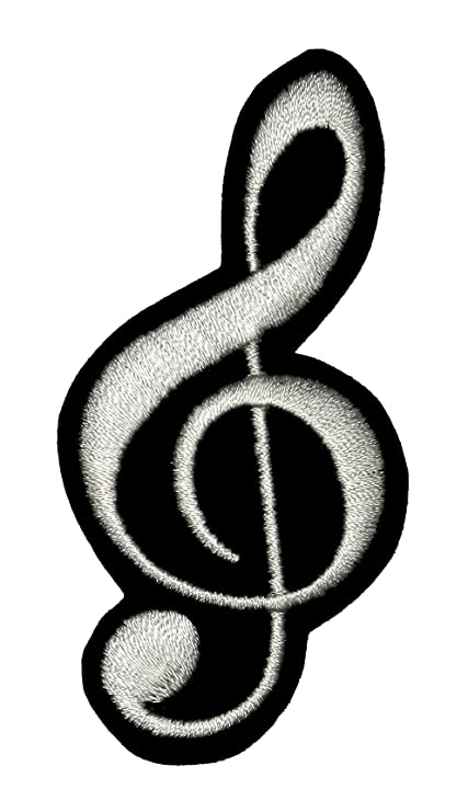 Amazon G Clef Music Note Symbol Diy Applique Embroidered Sew