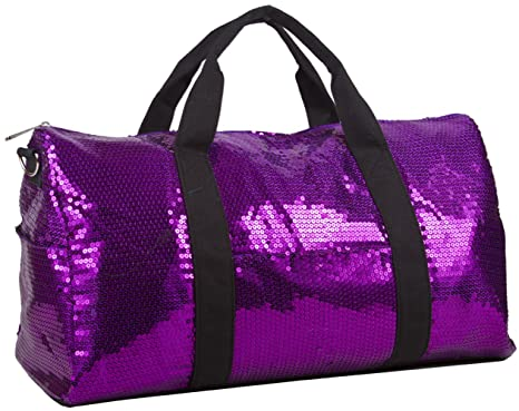 Image Unavailable. Image not available for. Color  Sequin Fashion Duffle  Bag Purple bf1dea647a59b