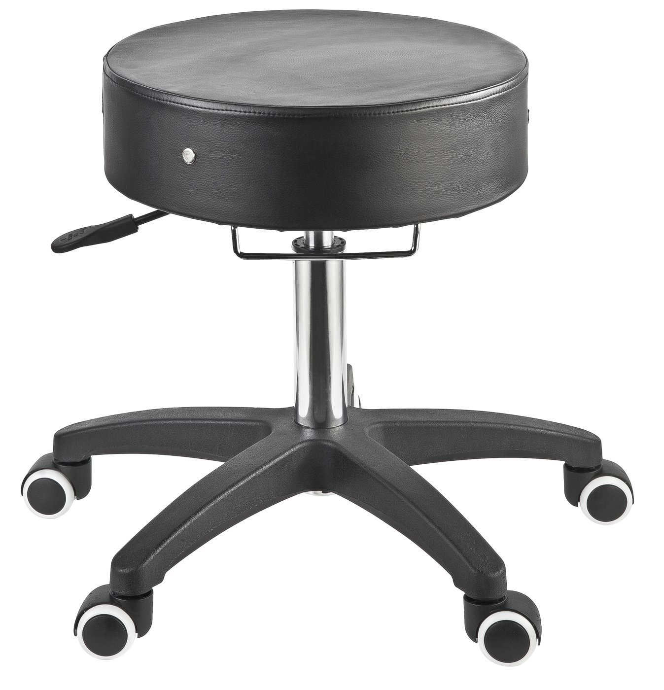 Master Massage Deluxe Glider Rolling Stool, Larger Seat Better Wheels with Grab Bar, Black by Master Massage