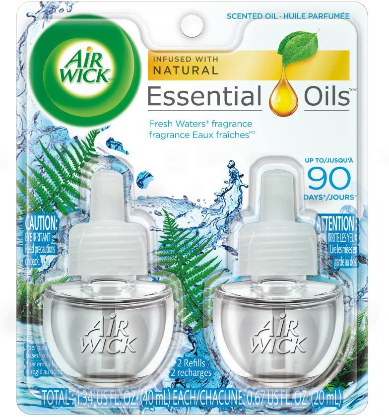 Air Wick, Plug in Scented Oil 2 Refills, Fresh Waters, 1.34oz