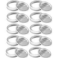 Mond Ball Jar Split-type Deksels Secure Mason Storage Solid Caps Mason Jars Canning Sealing Caps Compatibel met Mason…