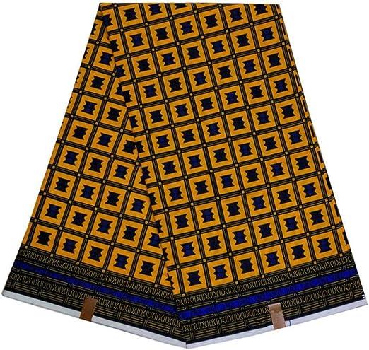PENVEAT Tela de Cera Real con Estampado Africano de algodón de ...