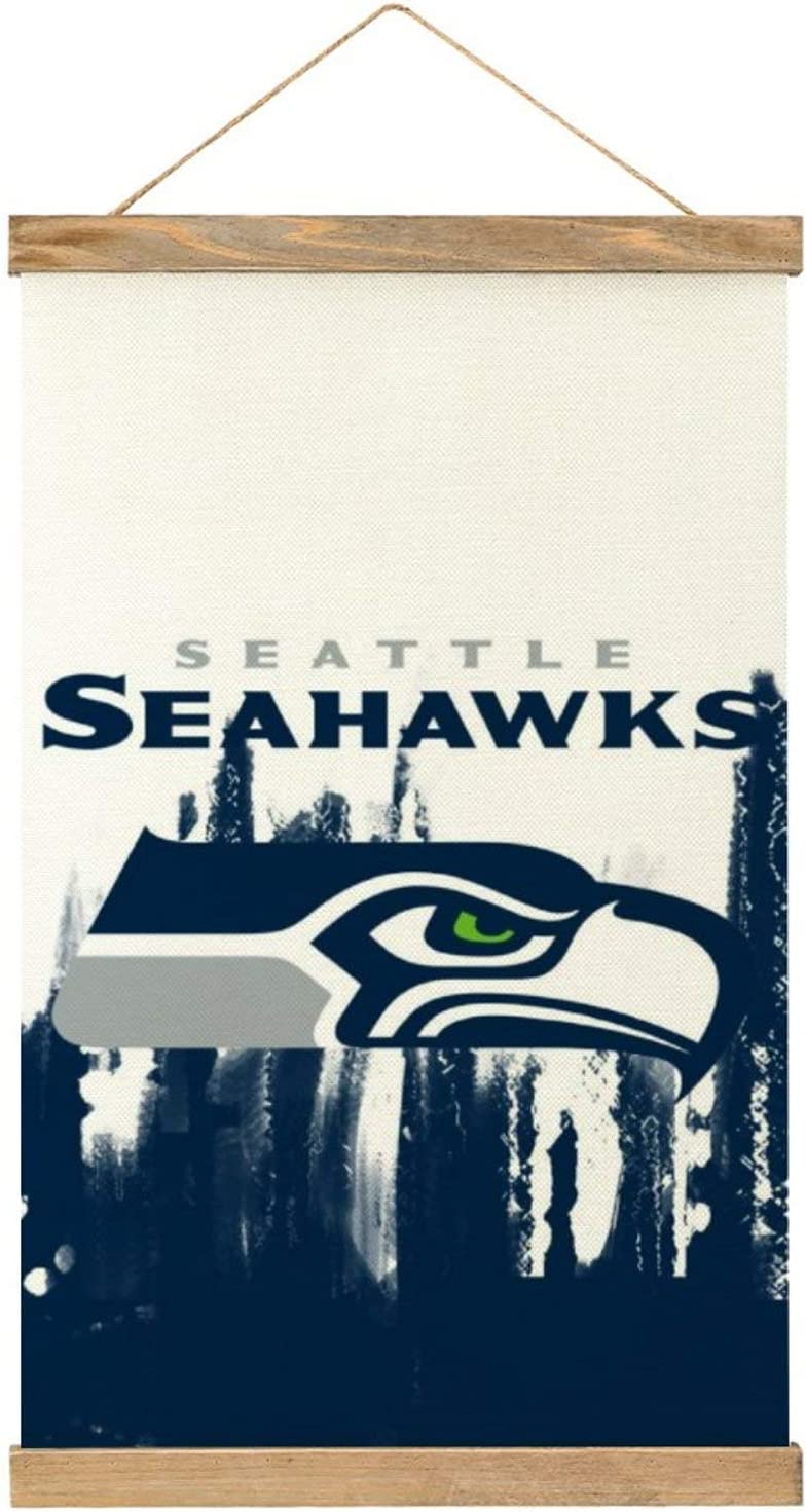 """MAATUD Seattle Football Seahawk Football Wooden Poster Frame Canvas Hangs a Picture Pop Art Prints Dorm Room Decor, Vintage Themed Home, Office, Apartment Poster Wall Decoration 20"""" x 13"""""""