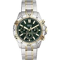 Fossil Garrett Men's Green Dial Stainless Steel Analog Watch - FS5622