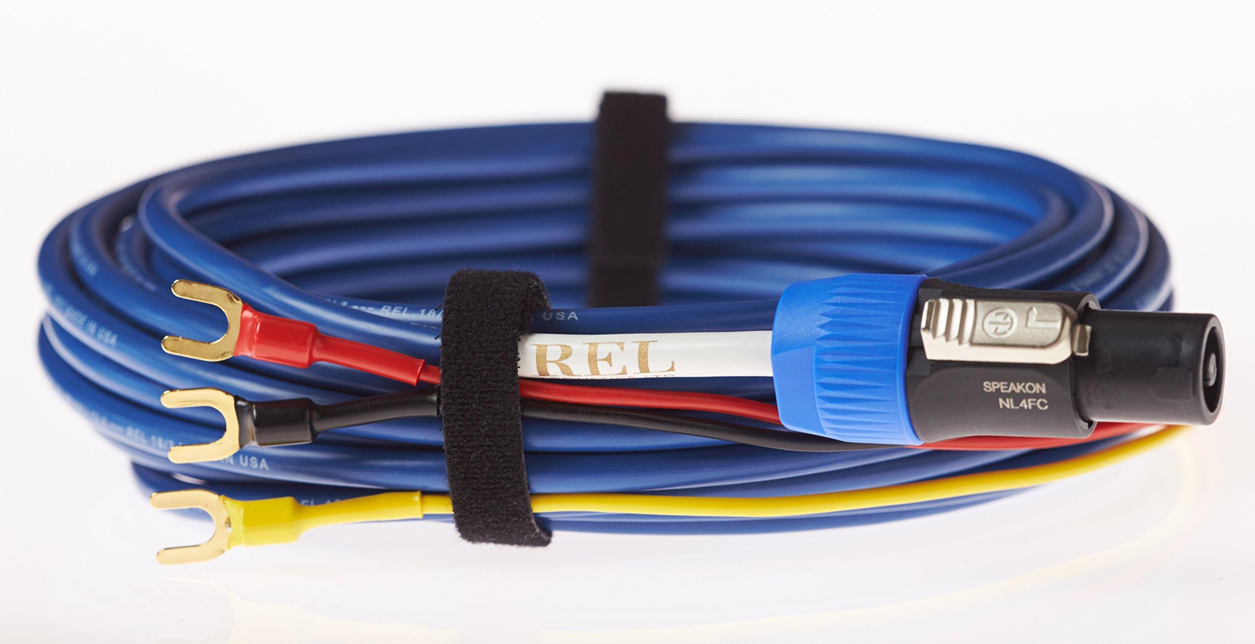 REL Acoustics Bassline Blue Subwoofer Cable, 3 Meter by REL Acoustics