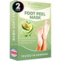 Foot Peel Mask - Avocado Feet Peeling Mask 2 Pack - Dermatologically Tested, Cracked Heel Repair, Dead Skin Remover for…