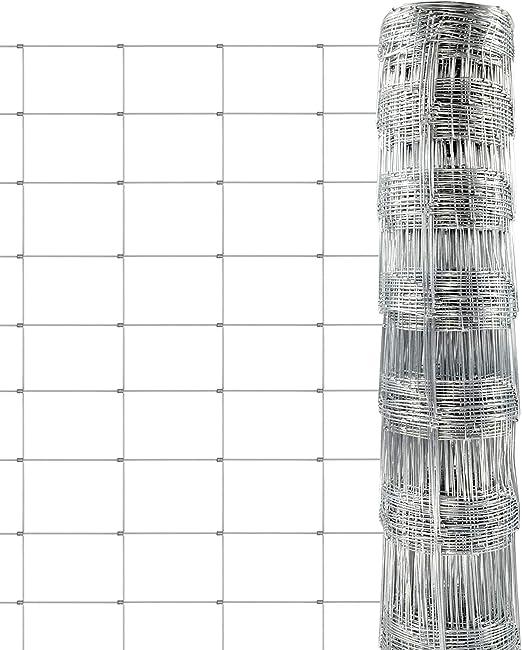 casa pura Grillage Cloture - Cloture pour Animaux   Grillage a Mouton,  Poules, Chèvres   Rouleau de Protection 50m   Différentes Hauteurs - 100cm  x ...