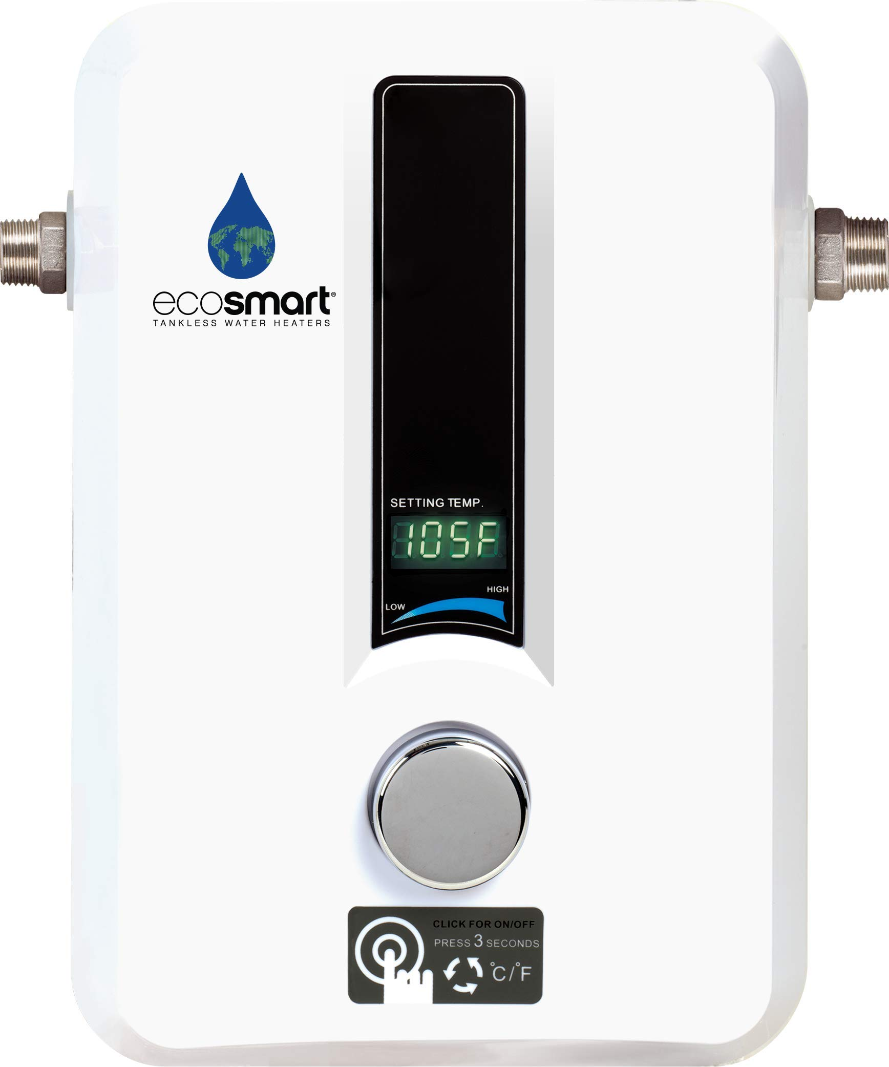 EcoSmart ECO 11 Electric Tankless Water Heater, 13KW at 240 Volts with Patented Self Modulating Technology by Ecosmart