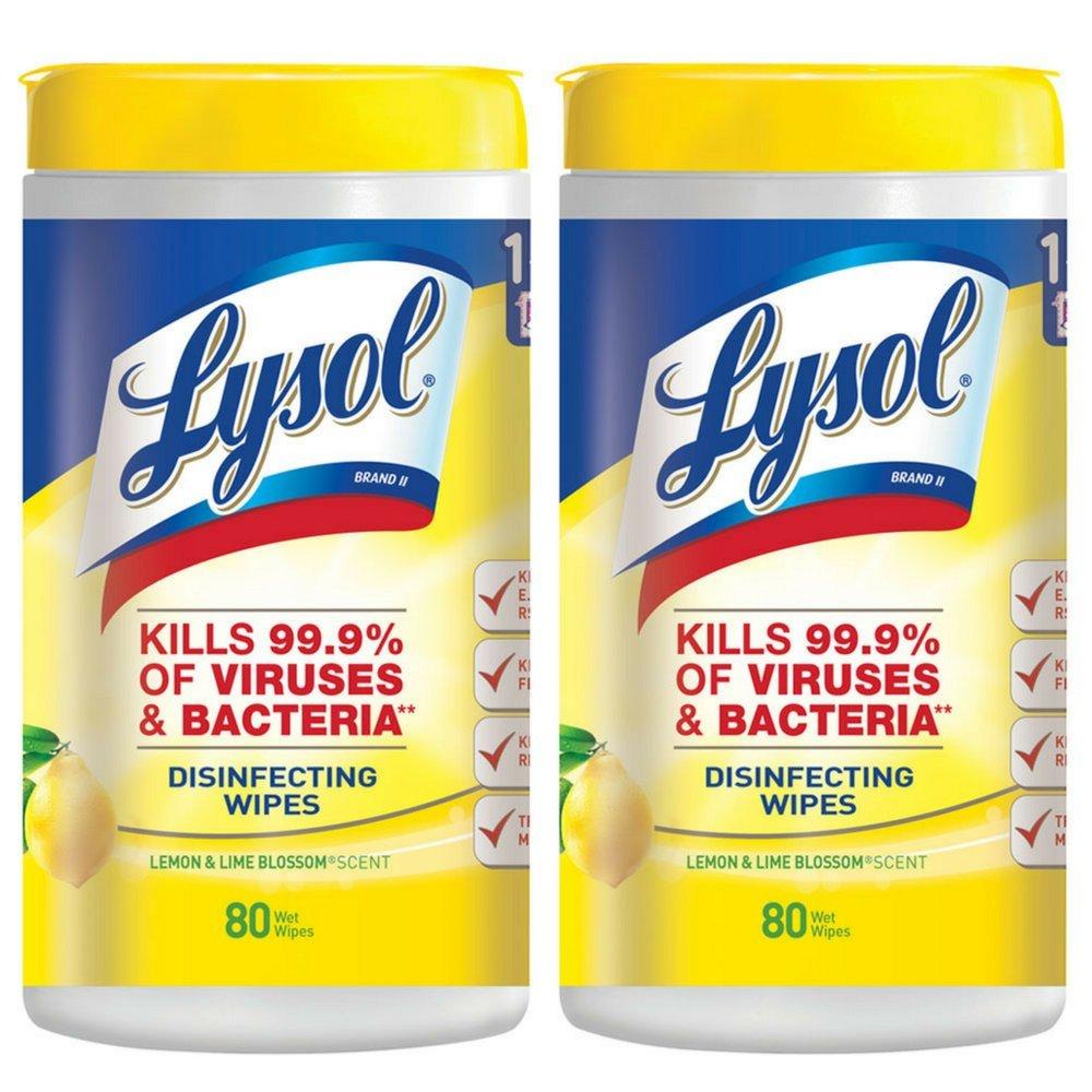 Reckitt Benckiser 1920077182 sanitización toallitas, 80-count, limón/Lime Blossom: Amazon.es: Hogar
