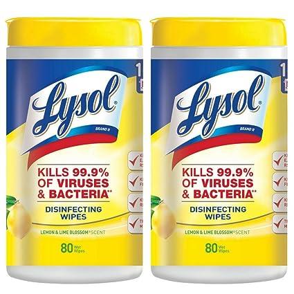 Reckitt Benckiser 1920077182 sanitización toallitas, 80-count, limón/Lime Blossom