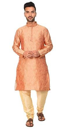 8af2aa7272e7 Mens Long Kurta Pajama Set Indian Ethnic Fashion Mens Wear Long Sleeve  Shirt Wedding Dress -