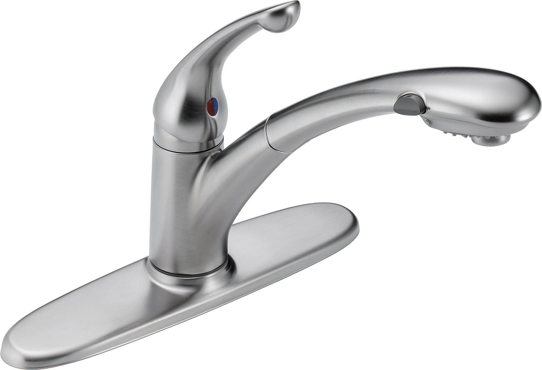 Palo ダイヤモンドシールテクノロジー プルアウト式キッチン水栓 セラミックカートリッジ470-BL-DST付き 9.00 x 10.75 x 9.00 inches 470-AR-DST 1