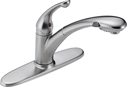 Delta Kitchen Faucets.Delta Faucet Signature Single Handle Kitchen Sink Faucet With Pull