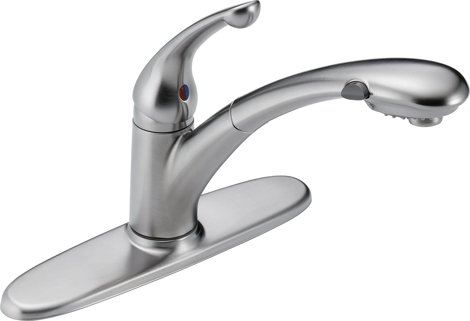 Delta 470-AR-DST Signature Single Handle Pull-Out Kitchen Faucet ...