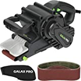 GALAX PRO 8 Amperes Belt Sander 120-380RPM with Variable Speed Settings, 5 Pieces Sanding Belts(3x21 Inch) and Dust Bag…
