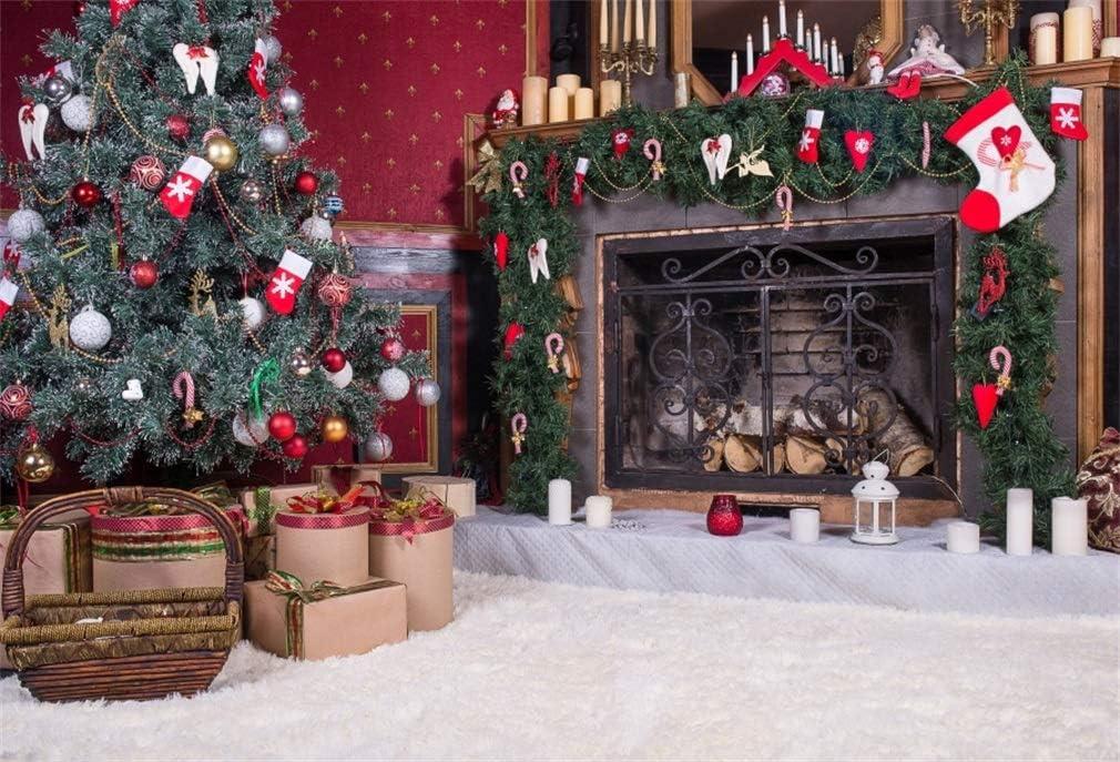 Yongfoto 3x2m Vinile Fondali Fotografici Natale Decorazione D Interni Albero Di Natale Camino Che Colpisce Con Forza Sfondi Foto Partito Studio Fotografico Puntelli Amazon It Elettronica
